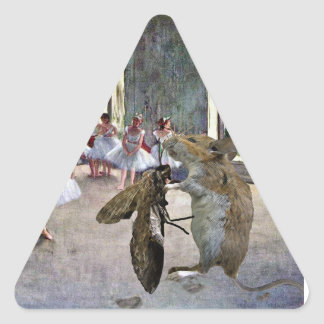 Moth and Mouse Cotillion Triangle Sticker