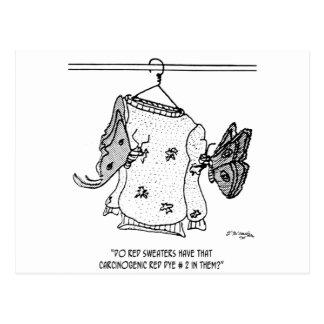 Moth Cartoon 3152 Postcard