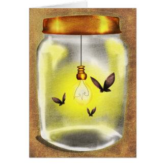 Moth Jar Greeting Card