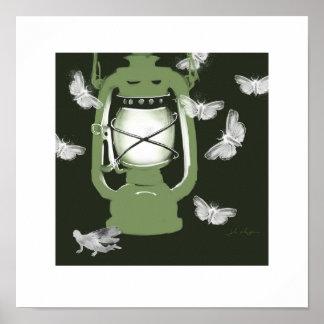 Moth Lantern print