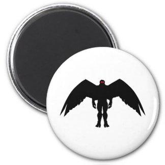 Moth Man 2 Inch Round Magnet