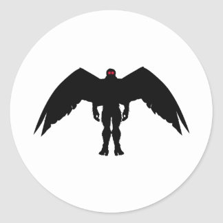 Moth Man Classic Round Sticker