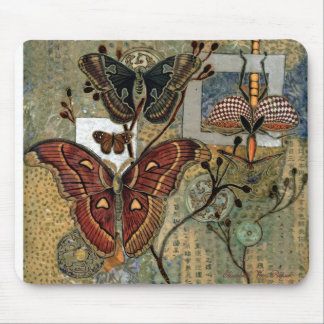 """Moth Milieu"" by Elizabeth Van Riper Mouse Pad"
