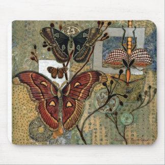 """Moth Milieu"" by Elizabeth Van Riper Mousepads"