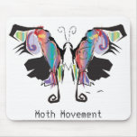 Moth Movement Mouse Pad
