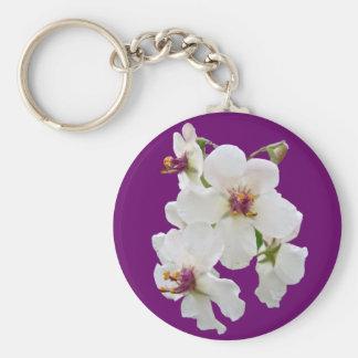 Moth Mullein Wildflower Keychain