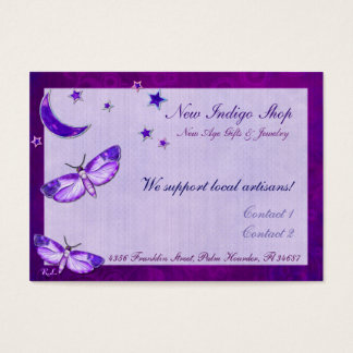 Moth Mystic New Age PERSONALIZED Profile Business Card