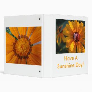 Moth On Blackeyed Susan, Have A Sunshine Day! 3 Ring Binder