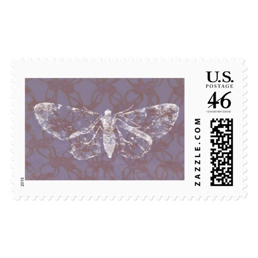 Moth on Crochet Postage Stamps