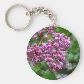 Moth on Lilac Bush Keychain