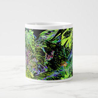 moth on plant abstract dark neon design extra large mugs