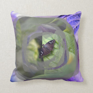 moth on plant inverted edges insect pillows