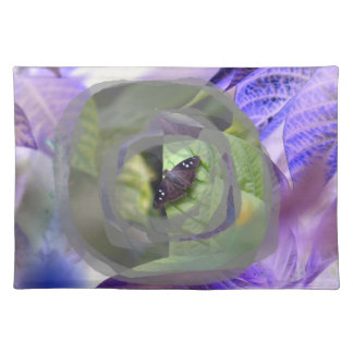 moth on plant inverted edges insect place mats