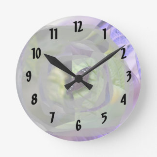 moth on plant inverted edges insect round clock