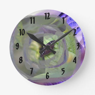 moth on plant inverted edges insect wallclocks