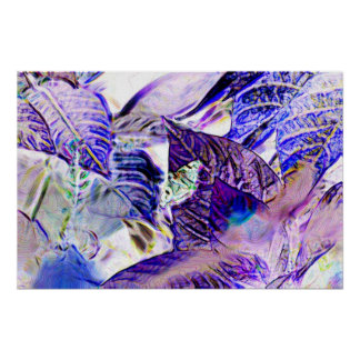 moth on plant purple blue bright abstract posters