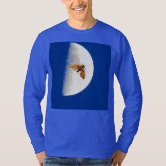 Moth on the A Big Half Moon Tee Shirt