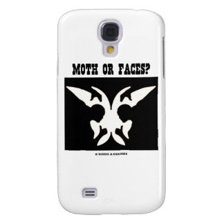 Moth Or Faces? (Optical Illusion Black White) Galaxy S4 Cases