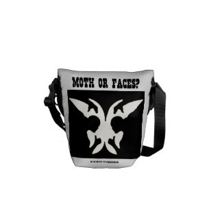 Moth Or Faces? (Optical Illusion Black White) Courier Bag