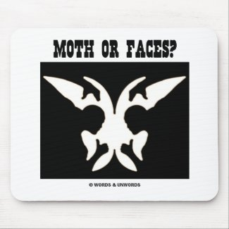Moth Or Faces? (Optical Illusion) Mousepads
