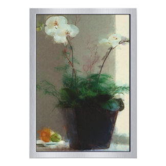 Moth Orchid in Window Card