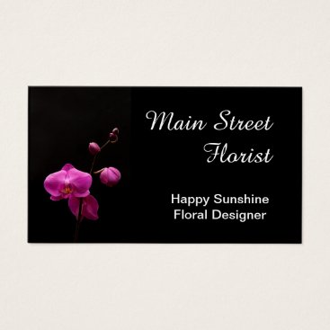 Professional Business Moth Orchid Pink Flowers Business Card