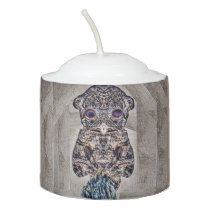 Moth Owl Votive Candle