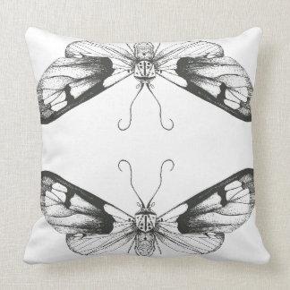 Moth Print Throw Pillow