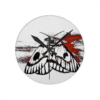 moth round clocks