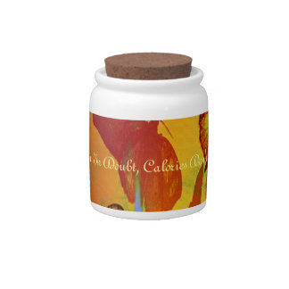 Moth To A Flame Abstract Art Candy Jar