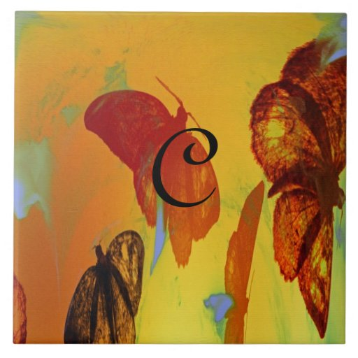 Moth To A Flame Abstract Art Ceramic Tile