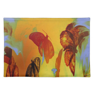 Moth To A Flame Abstract MoJo Placemats