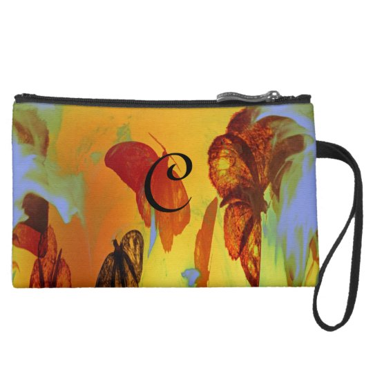 Moth To The Flame Abstract Mini Clutch