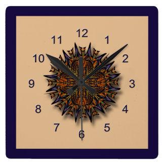 Moth Wing Mandala Abstract Wall Clock