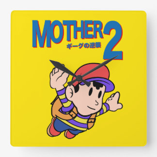 Mother 2 SMB Square Wall Clocks
