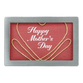 Mother #7 rectangular belt buckle