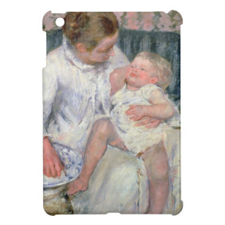 Mother about to Wash her Sleepy Child, 1880 (oil o Case For The iPad Mini
