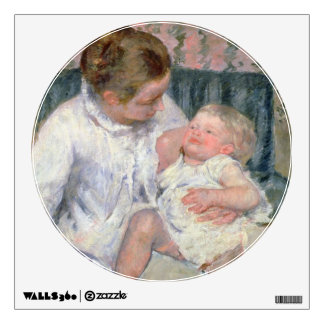 Mother about to Wash her Sleepy Child, 1880 (oil o Wall Decal
