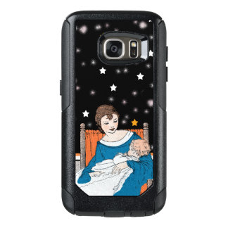 Mother Admiring Precious Baby in Chair Stars OtterBox Samsung Galaxy S7 Case