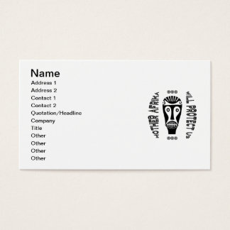 Mother Afrika Will Protect Us Business Card