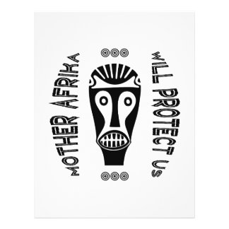 """Mother Afrika Will Protect Us 8.5"""" X 11"""" Flyer"""