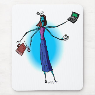 Mother Alien Working Hard Mouse Pad