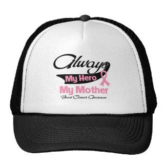 Mother - Always My Hero - Breast Cancer Trucker Hat