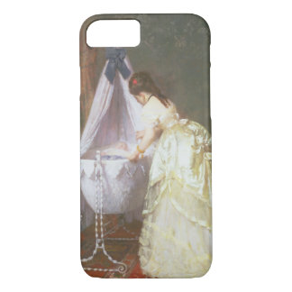 Mother and Baby, 1869 (oil on panel) iPhone 7 Case