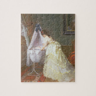 Mother and Baby, 1869 (oil on panel) Jigsaw Puzzle