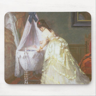 Mother and Baby, 1869 (oil on panel) Mouse Pad