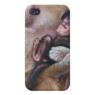 Mother and Baby Baboon iPhone 4/4S Case