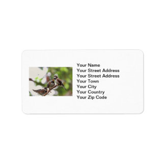 Mother and Baby Birds Personalized Address Label