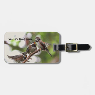 Mother and Baby Birds Travel Bag Tag