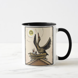 Mother and Baby Birds Mug